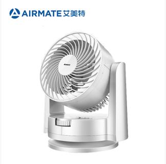 艾美特 空气循环扇台式家用涡轮对流风扇白色 FB1562