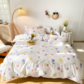 VIPLIFE新品全棉四件套 清新卡通四件套床品套件【清新卡通系列】