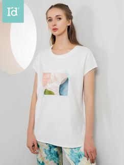 【专柜同款】女式印花短袖中长款T恤6215151411