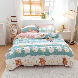 【下单减50元】VIPLIFE四件套 被套全棉纯 棉床上用品床单四件套床品套件【小清新系列】