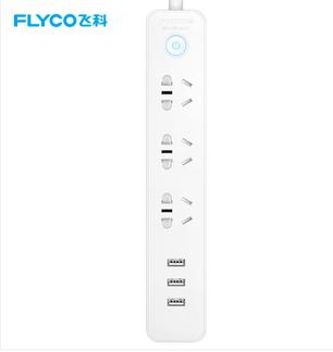飞科(FLYCO)延长线插座FS2071 接线板插排家用USB充电独门**门3米 插线板排插接电线接电板
