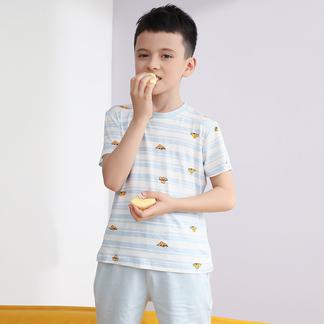 夏款睡衣男童卡通考拉印花短袖短裤套装6202301321