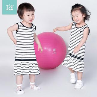 夏季睡裙女童棉海洋风条纹连衣裙6175301531