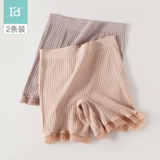 【2条装平角裤】夏季打底女式内裤素色花边平角裤6217204711