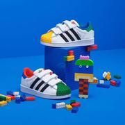 Adidas阿迪达斯童鞋三叶草儿童休闲鞋乐高联名男小童贝壳头板鞋H03963 H03964 H03964 黄/绿