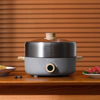 日本山水(SANSUI)3L多功能电火锅电煮锅SHG-3040(轻奢灰系列)