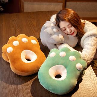 【热卖好货】VIPLIFE抱枕 午睡枕 靠垫 亲肤柔软猫爪插手午睡枕【时尚小物系列】